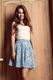 fashion girl with lovely skirt