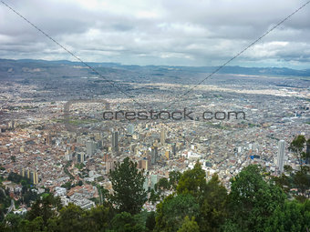 Aerial View of Bogota from Monserrate Hill