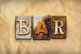 Bar Concept Rusted Metal Type