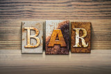 Bar Concept Letterpress Theme
