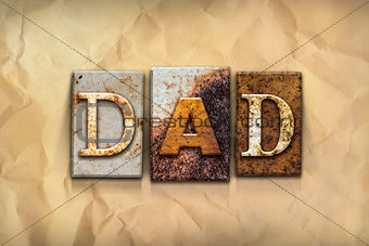 Dad Concept Rusted Metal Type