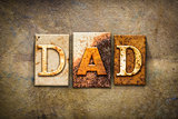 Dad Concept Letterpress Leather Theme
