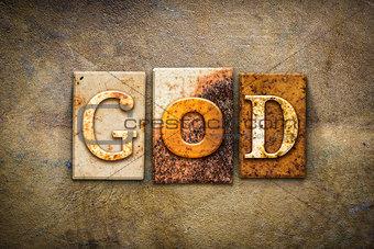 God Concept Letterpress Leather Theme