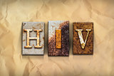 HIV Concept Rusted Metal Type