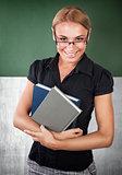 Happy young teacher portrait
