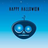 Vector icon Alien pumpkin Halloween