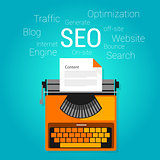 seo content marketing strategy concept search engine optimization