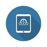 Flat Design Investment Services Icon. Isolated Illustration.