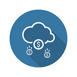 Make Money Icon. Business Concept. Flat Design.
