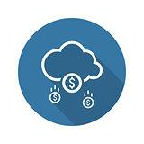 Make Money Icon. Business Concept. Flat Design.