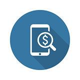 M-Commerce Icon. Business Concept. Flat Design.