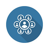 Teamwork Icon. Business Concept. Flat Design.
