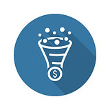 Conversion Rate Optimisation Icon. Business Concept. Flat Design