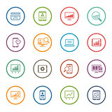 Flat Colored Business Icon Set