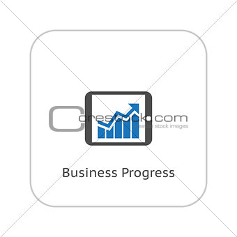 Business Progress Icon. Flat Design.