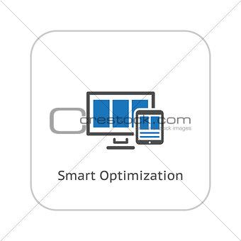 Smart Optimization Icon. Business Concept. Flat Design.