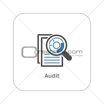 Audit Icon. Business Concept. Flat Design.