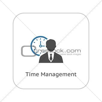 Time Management Icon. Business Concept. Flat Design.
