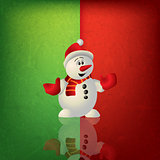 celebration greeting with snowman