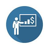 Presentation Icon. Business Concept. Flat Design.