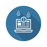 Monetization Icon. Business Concept. Flat Design.