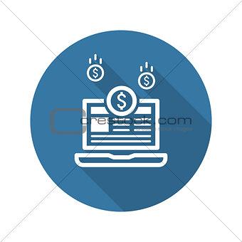 Monetization Icon. Business Concept. Flat Design.