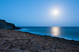 Seascape with moonlight, Murcia, Spain