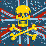 Jolly Roger Flag Background
