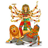 Happy Durga Puja background