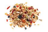 Pile of homemade granola