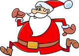 running santa claus cartoon