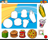 cartoon educational preschool task