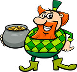 leprechaun with gold cartoon