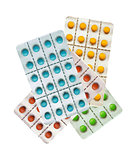 Tablets pills isolated on white