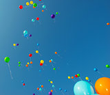 Flying color balloons