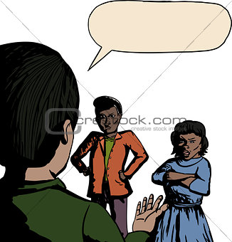Three People Arguing