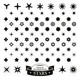 Set of different stars