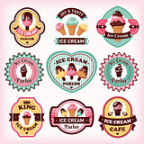 Set of ice cream labels