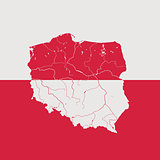 Map of Poland.