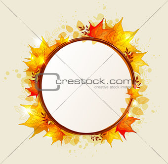 Abstract round autumn banner