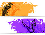 Horizontal banners for Halloween