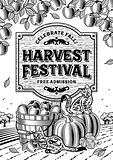 Harvest Festival Poster black and white