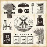 Vintage cereal set