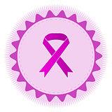 Pink ribbon emblem