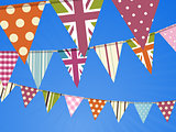 Bunting on blue sky
