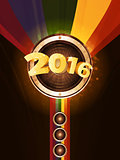 New Year party 2016 background