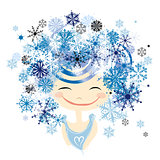 Winter female portrait for your design