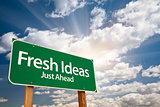 Fresh Ideas Green Road Sign Over Clouds