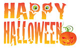Happy Halloween Text Illustration