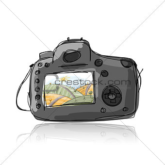 Camera, sketch for your design